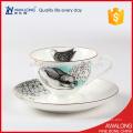 Dinnerware exclusivo da porcelana com testes padrões animais do jantar do teste padrão do animal