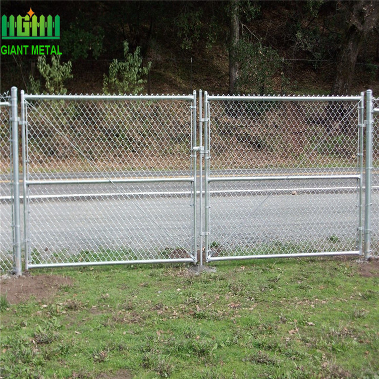 Galvanized Antique Chain Link Metal Fence Gate