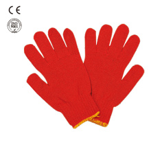 safety work colored cotton gloves