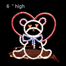 Holiday Rhinestone Candy Bear Heart Corona del Día de San Valentín