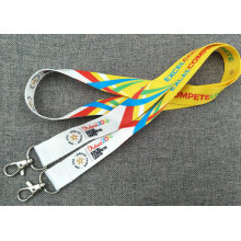 Event Ribbon Printed Polyester Neck Lanyards with Sublimation Logo