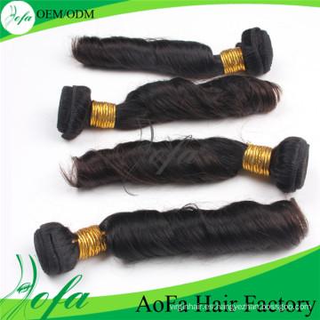 Aofa Spring pelo rizado humano Remy Virgen extensión del pelo