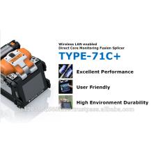 12 cable de fibra óptica de un solo modo y ligero y rápido TYPE-71C + para uso industrial, SUMITOMO Fiber Cleaver también disponible