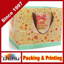 Papel de arte / papel branco 4 saco impresso cor (2271)