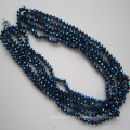 5 Rows Bright Crystal Necklace, Fashion Jewelry