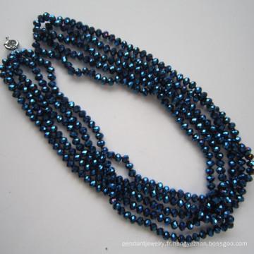 5 rangs collier lumineux en cristal, bijoux de mode
