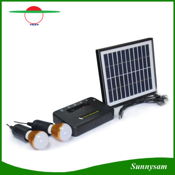 Mini Solar Power System with LED Spotlight Solar Home Kit with Detached Solar Panel with USB Port for Mobile Charge
