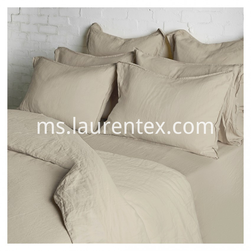 natural washed linen flat sheet 2