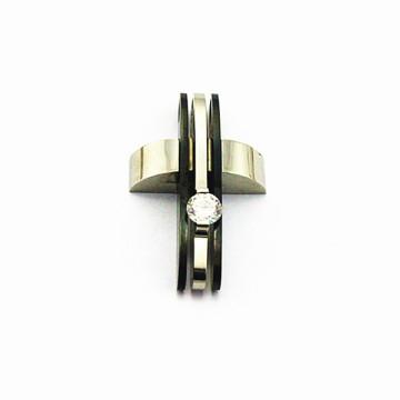 Pingente de cruz de aço inoxidável para homens, pingentes de cristal de quartzo, pingentes de cristal