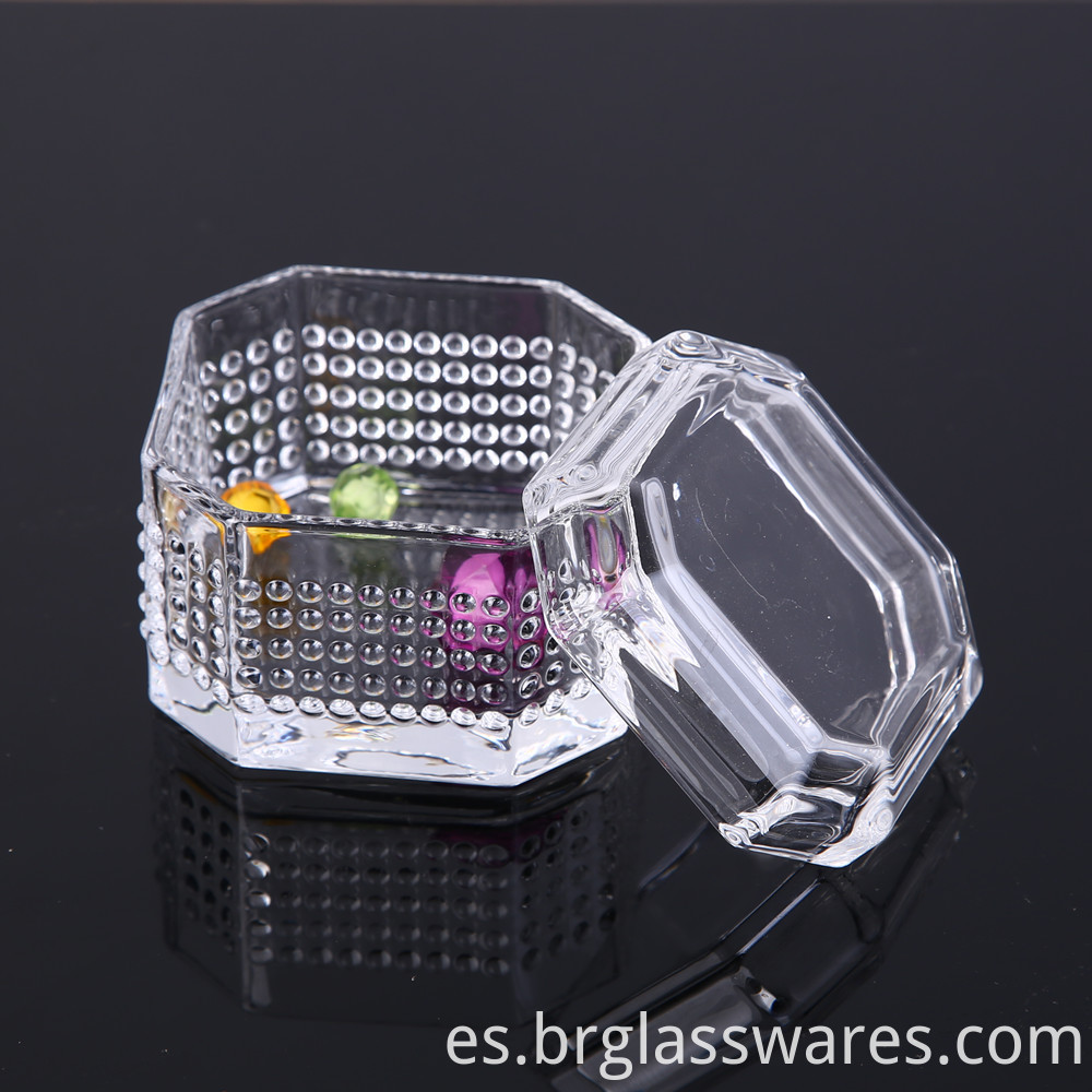 crystal glass jewel box