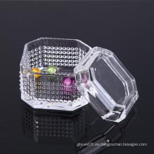 Caja de joyas de vidrio cristalino de diseño único de venta caliente