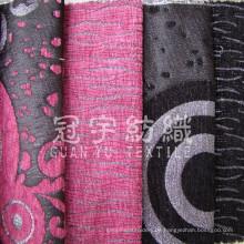 Imitation Leinen 100% Polyester Stoff für die Dekoration