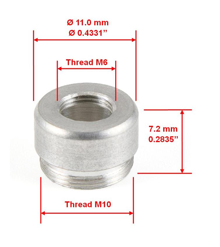Round Cap Aluminum Part Size