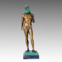 Estatua Desnuda Grecia Ricci Escultura De Bronce, Milo TPE-367