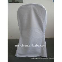 Housse de chaise de banquet standard de couleur blanche, CTV553