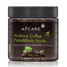 Private Label 100% Natural Organic Coffee Scrub Exfoliating Anti Cellulite Face and Body Scrub