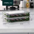 Boîte de rangement des aliments de cuisine empilable en plastique