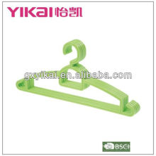 PP plastic hangers wholesale with a tie rack and trousers bar