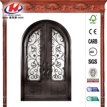 Fero Fiore 3/4 Lite Bronze Wrought Iron Prehung Front Door