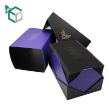 Boîte de montre de conception de couleur pourpre de mode du plateau d'EVA avec du papier au-dessus
