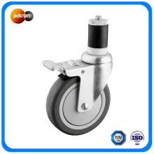 Ball Bearing Wheel PU Caster Expanding Stem Caster Wheels