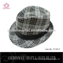 Chapeau Fedora bon marché imprimé avec bande noire