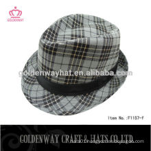 Printed Cheap Fedora hat with Black Band