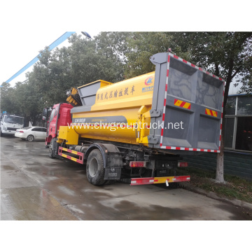 FAW compact garbage truck mounted crane