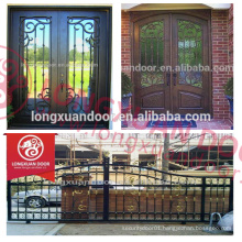 News designs wrought iron main entrance door