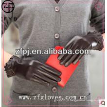 ZF2836 Luvas de couro de Nappa da forma das mulheres novas do estilo