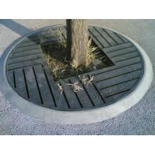 Grating de aço revestido de PVC para piscina de árvore
