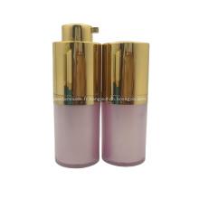 Bouteille de pompe sans air cosmétique colorée d'emballage cosmétique en plastique de 30 ml 50 ml