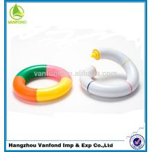 marcador de cor de anel de natação engraçado, 4 cores, caneta marca-texto