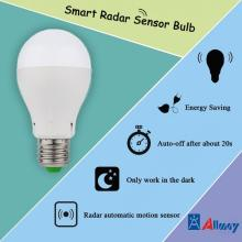 LED Globe Bulb with Microwave Motion Sensor