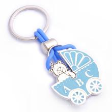 Promotion Branding Logo Porte-clés en métal en forme d'ours avec époxy (F1235)