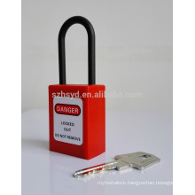40mm square brand steel shackle safety padlocks