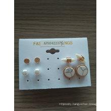 Simple Set Small Gemstone Earrings Beauty