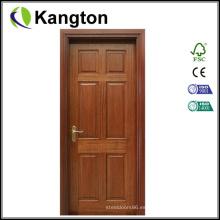 Puerta de entrada de madera de caoba del diseño de talla (puerta de madera)