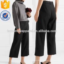 Черный Твилл широкие брюки Производство Оптовая продажа женской одежды (TA3024P)