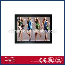 LED slim acrylic magnetic photo frame light box advertising