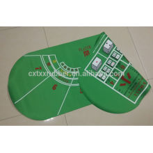 double side pocker table mat, double side fabric gambling table mat