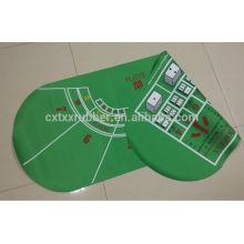 Tapete de mesa dobro do lado do pocker, tapete da mesa do jogo do lado dobro
