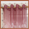 Chinese style curtains Turkish chocolate color printed for church curtains for living room