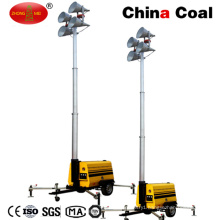Outdoor Hydraulic Diesel Engine Mobile Light Tower