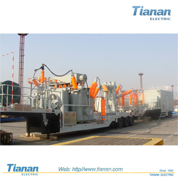 Transmisión / distribución de energía de emergencia Subestación móvil transformable / 35kv ~ 132kv Subestación móvil prefabricada