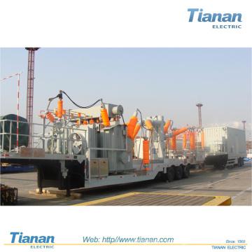 Transmission / distribution de puissance d'urgence Sous-station de transformateur mobile / 35kv ~ 132kv Sous-station mobile préfabriquée