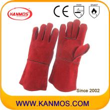 Красная кожаная сплит-кожа Промышленные рукава для безопасной сварки (111032)
