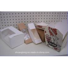 Emballage de papier alimentaire Boîte à sandwich en plastique