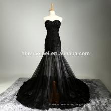 Vestido de boda nupcial musulmán moldeado del nuevo estilo del vestido de boda del color negro del nuevo diseño