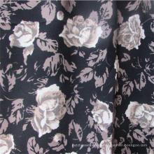 Plain Weave Printed Rose Viskose Kleidungsstück Stoff für Frauen Kleid